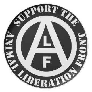 Vegetarian Vegan Support Animal Liberation Front Party Plates