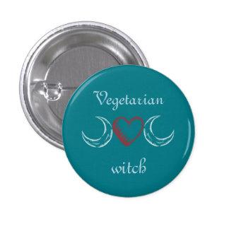 Vegetarian witch 3 cm round badge