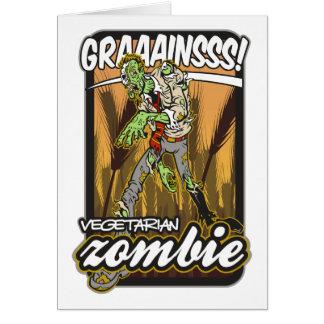 Vegetarian Zombie Card