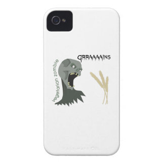 Vegetarian Zombie wants Graaaains! iPhone 4 Covers