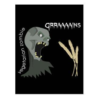 Vegetarian Zombie wants Graaaains! Postcards