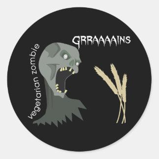 Vegetarian Zombie wants Graaaains Sticker