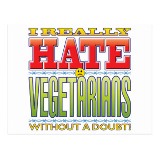 Vegetarians Hate Face Post Cards