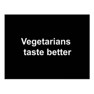 Vegetarians taste better post cards