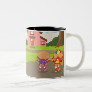 Veggie & Angus Coffee Mug with Double Picture