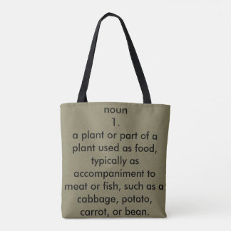 Veggie Definition Tote Bag