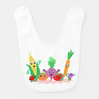 Veggie Friends Baby Bib