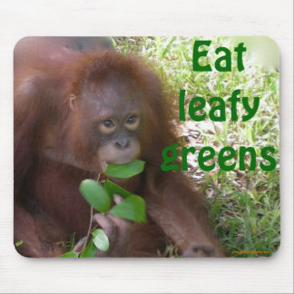 Veggie Green Wildlife Mouse Pad