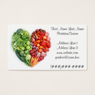Veggie Heart Business Card