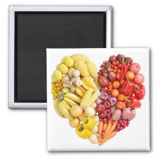 Veggie Heart Refrigerator Magnet