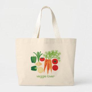 Veggie Lover Mixed fresh Vegetables Jumbo Tote Bag