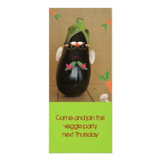 veggie party 10 cm x 24 cm invitation card