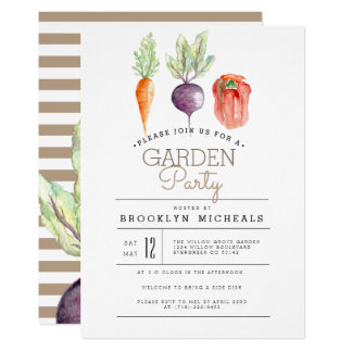 Veggie Patch   Watercolor Garden Party Card
