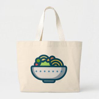 Veggie Salad Large Tote Bag