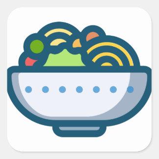 Veggie Salad Square Sticker