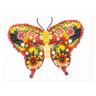 veggieart butterfly postcard