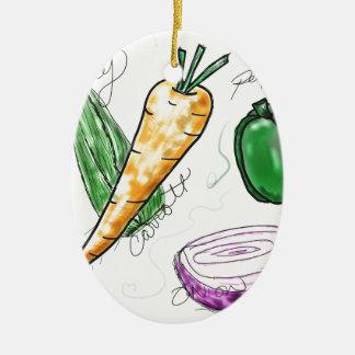 Veggies Ceramic Ornament