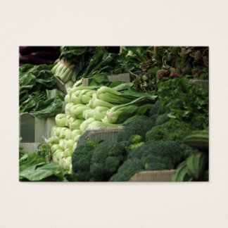 veggies for sale business card