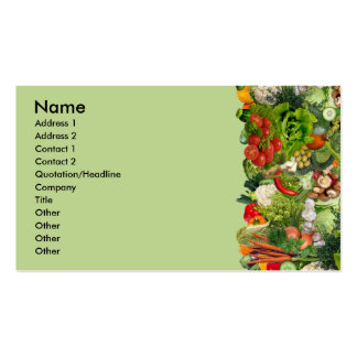 Veggies Pack Of Standard Business Cards