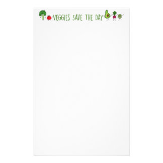 Veggies Save The Day Stationery