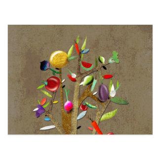 Veggies Watercolor Postcard