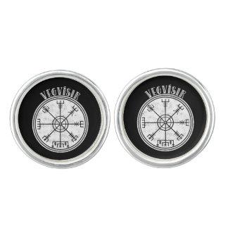 VEGVISIR  Icelandic compass Cuff Links