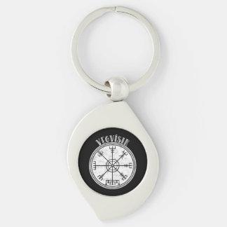 VEGVISIR  Icelandic Magical Stave Key Ring