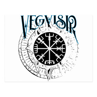 vegvisir nordic pathfinder compass postcard