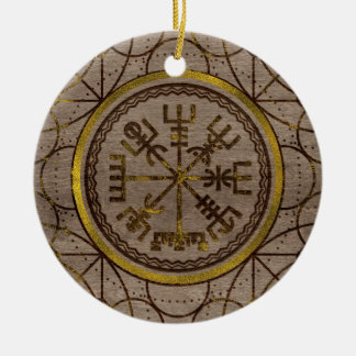 Vegvisir. The Magic Navigation Viking Compass Ceramic Ornament
