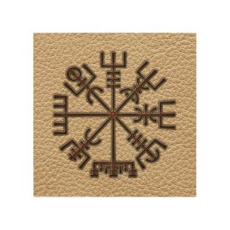 Vegvisir. The Magic Navigation Viking Compass Wood Wall Art