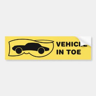 Vehicle in Toe Bumper Sticker