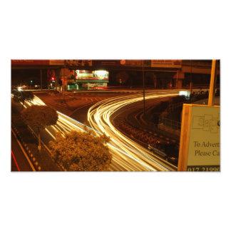 vehicle light line on road photo