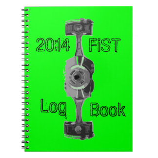 Vehicle maintenance log book spiral notebook