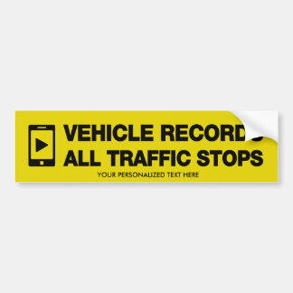 Vehicle Records All Traffic Stops Stickers Bumper Sticker