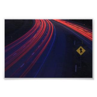Vehicle Traffic Tail Light Trails Photo Print