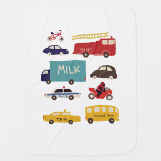 Vehicles Baby Blanket