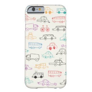 Vehicles Doodles Pattern Barely There iPhone 6 Case