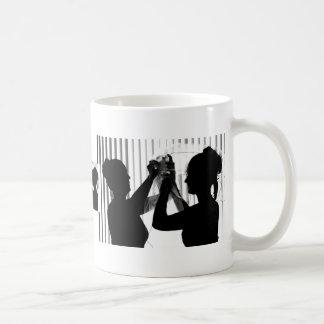 Veil Adjust Bride Photograph B/W Wedding Picture Mugs