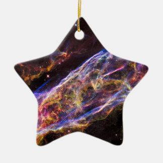 Veil Nebula Supernova Remnant Ceramic Ornament