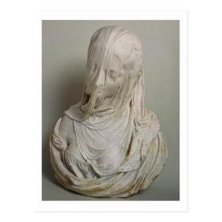 Veiled Girl (marble) Postcard