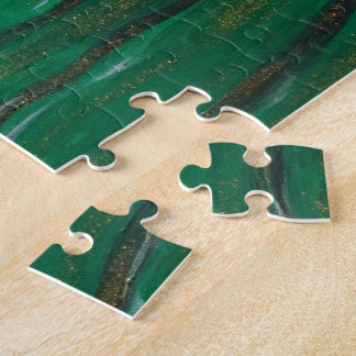 Veiled woman in dark green jigsaw puzzle