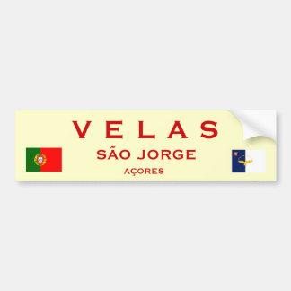 Velas Sao Jorge Bumper Sticker Car Bumper Sticker