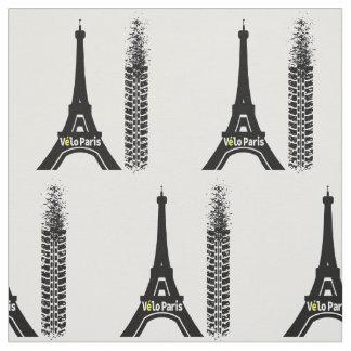 Velo Paris Bike Eiffel Tower Fabric