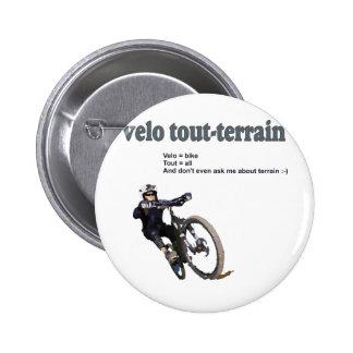 Velo Tout-Terrain Pinback Buttons