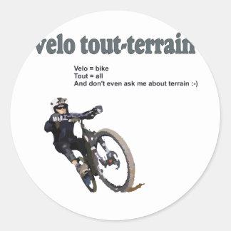 Velo Tout-Terrain Round Sticker