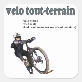 Velo Tout-Terrain Square Sticker