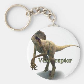 Velociraptor Basic Round Button Key Ring
