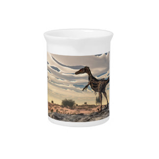 Velociraptor dinosaur - 3D render Beverage Pitcher