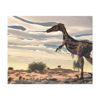 Velociraptor dinosaur - 3D render Canvas Print