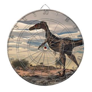 Velociraptor dinosaur - 3D render Dartboard